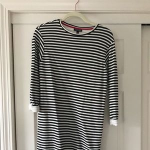 Top Shop Longsleeve Striped Dress